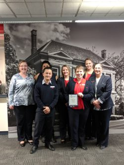 Westpac Bank Warragul staff members with branch manager Michaela Ranton