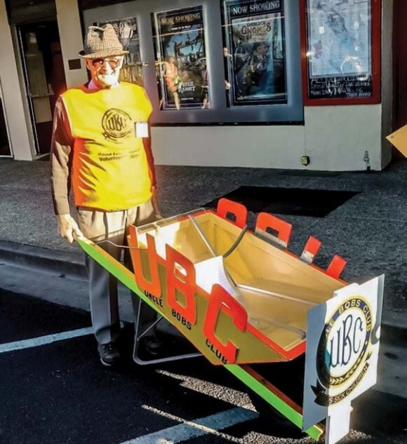 Clem Kleinig is ready to start the 50th Good Friday Appeal Wheelbarrow Push