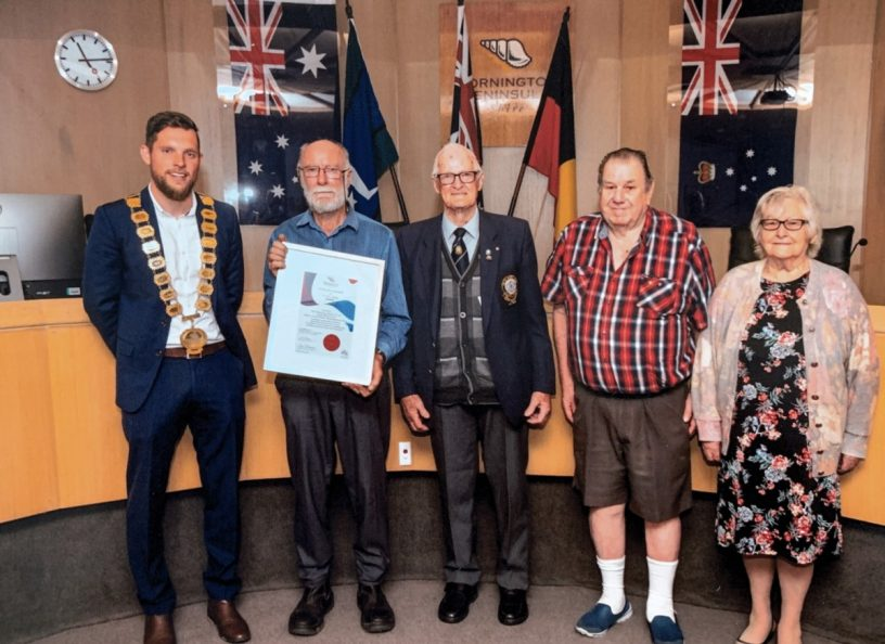 2020 Australia Day Acknowledgement of Excellence Award presentation to UBC Peninsula Group
