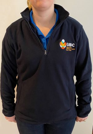 ubc polar fleece - half zip